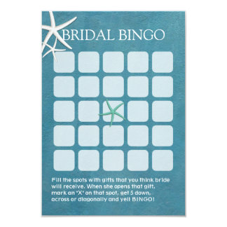 Tarjetas nupciales del bingo de la ducha del boda invitación 8,9 x 12,7 cm