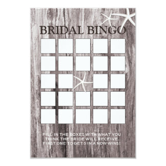"""Tarjetas nupciales del bingo de la ducha del invitación 3.5"""" x 5"""""""