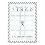 Tarjetas nupciales del bingo del zigzag de la invitación