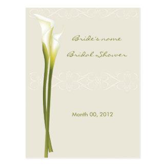 Tarjetas nupciales del consejo de la ducha de la tarjetas postales
