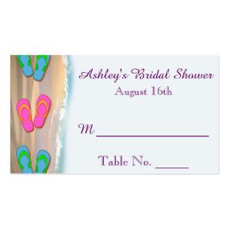 Tarjetas nupciales del lugar de la ducha de la pla tarjetas de visita