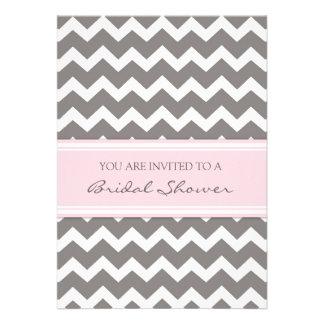 Tarjetas nupciales grises rosadas de la invitación