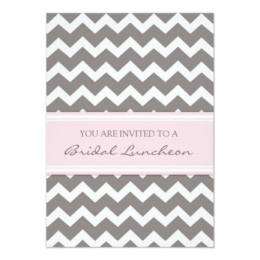 Tarjetas nupciales grises rosadas de la invitación invitación 12,7 x 17,8 cm