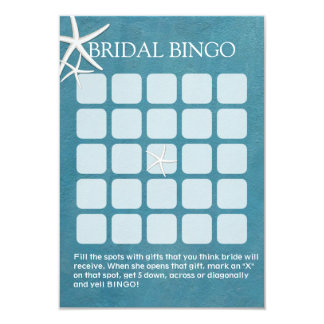 """Tarjetas nupciales náuticas del bingo de la ducha invitación 3.5"""" x 5"""""""