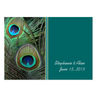 Tarjetas orgullosas del lugar del boda del pavo re tarjeta personal