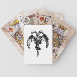 tarjetas oscuras del póker de los artes barajas de cartas