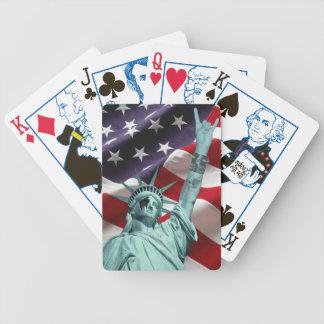 Tarjetas patrióticas baraja de cartas bicycle