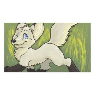 Tarjetas peludas ADAPTABLES - Fox blanco Plantilla De Tarjeta Personal