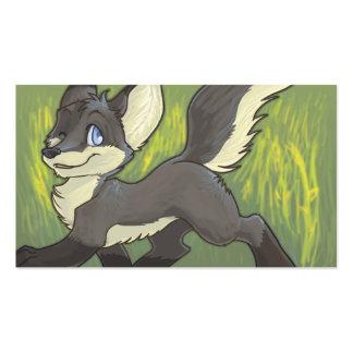 Tarjetas peludas ADAPTABLES - Fox negro Tarjetas De Negocios