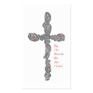 """Tarjetas """"perforadas"""" de la escritura del 53:5 de tarjetas de visita"""