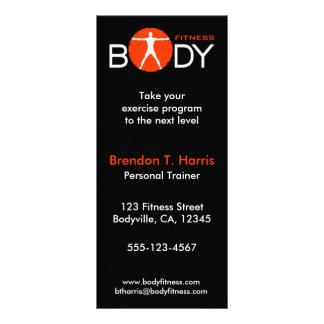 Tarjetas personales del estante del instructor de  diseños de tarjetas publicitarias