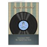 Tarjetas personalizadas disco de vinilo del vintag