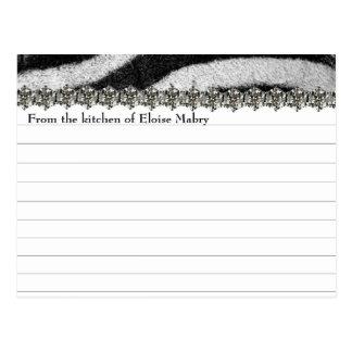 Tarjetas personalizadas mirada de la receta del di postales