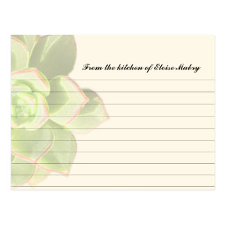 Tarjetas personalizadas Succulent translúcido de l Postales