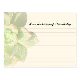 Tarjetas personalizadas Succulent translúcido de Postal