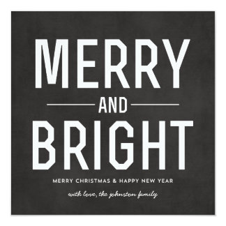 """Tarjetas planas de la foto de las Felices Navidad Invitación 5.25"""" X 5.25"""""""