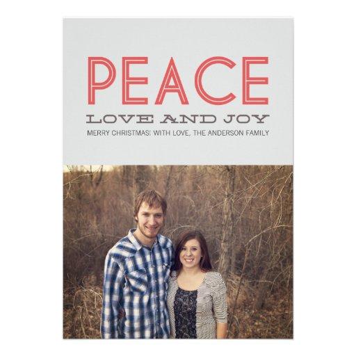 Tarjetas planas de la foto del navidad del día de  anuncio