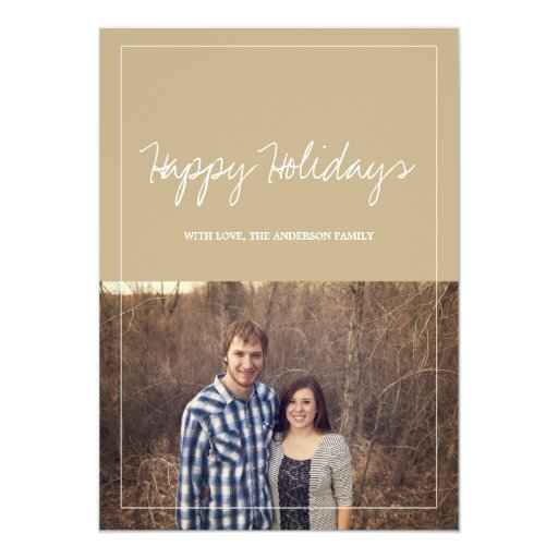 """Tarjetas planas de la foto del navidad del día de invitación 5"""" x 7"""""""