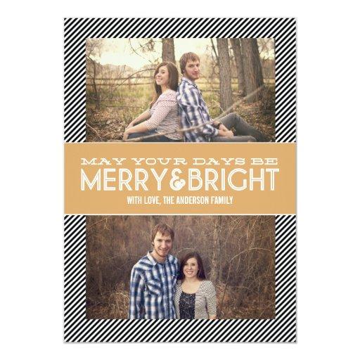 Tarjetas planas de la foto feliz y brillante del invitación 12,7 x 17,8 cm