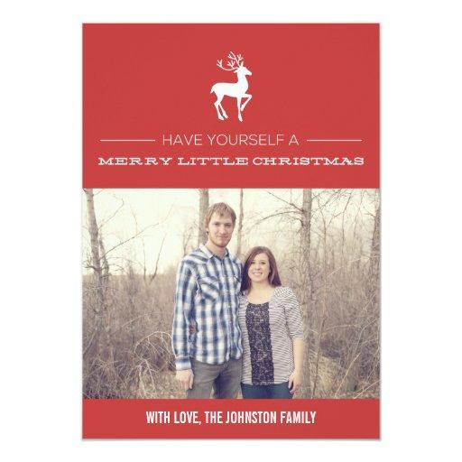 Tarjetas planas de la foto roja de las Felices Invitación 12,7 X 17,8 Cm