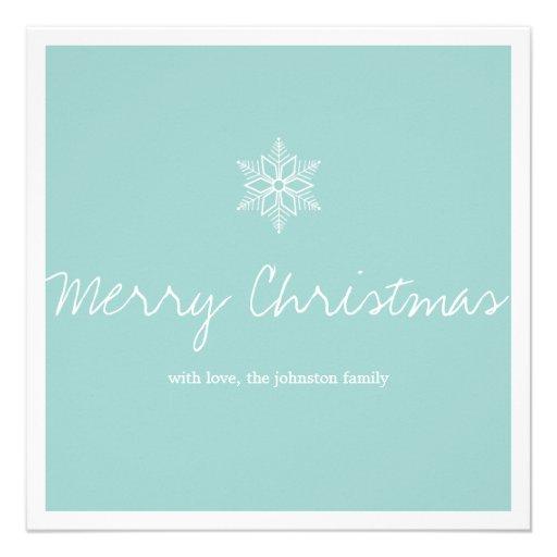 Tarjetas planas de la nieve de la escama del navid invitación