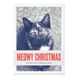 Tarjetas planas de Meowy del navidad de la foto Comunicados Personalizados