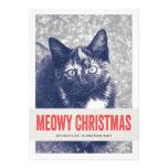 Tarjetas planas de Meowy del navidad de la foto li Comunicados Personalizados