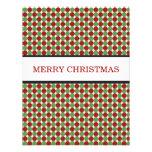 Tarjetas planas del navidad rojo y verde de los lu invitación