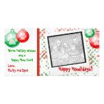 Tarjetas polaroid de la foto del navidad tarjetas personales con fotos