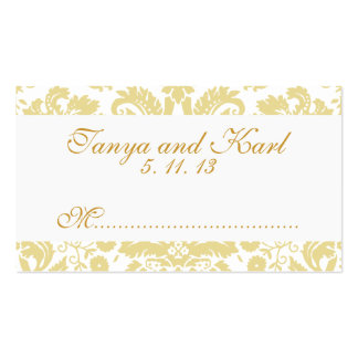 Tarjetas poner crema de marfil del lugar del boda plantilla de tarjeta personal