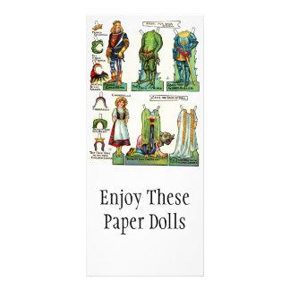 Tarjetas promocionales de la muñeca de papel del v lonas personalizadas