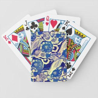 Tarjetas protagonista de la guitarra de los azules cartas de juego