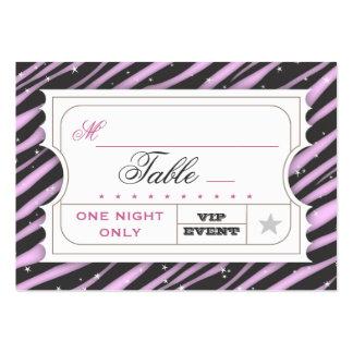 Tarjetas púrpuras atractivas del asiento de la tarjetas de visita grandes
