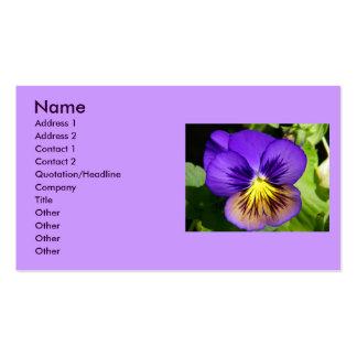 Tarjetas púrpuras bonitas del perfil del tarjetas de visita