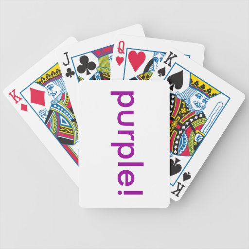 Tarjetas púrpuras cartas de juego