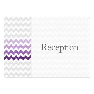 Tarjetas púrpuras de la recepción de Ombre del Tarjetas De Visita Grandes