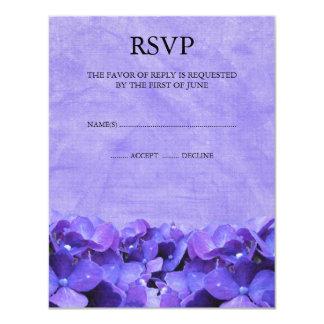 Tarjetas púrpuras de la respuesta de RSVP del Invitación 10,8 X 13,9 Cm