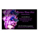 Tarjetas púrpuras de la señora 5 visita de la mari tarjeta de negocio