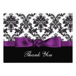 tarjetas púrpuras del damasco gracias invitacion personalizada