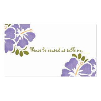 Tarjetas púrpuras del lugar de la tabla del boda d plantilla de tarjeta de negocio