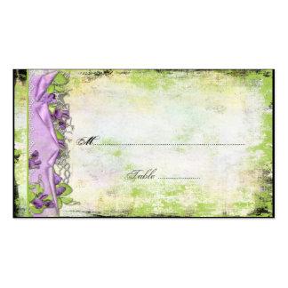 Tarjetas púrpuras del lugar de los guisantes de ol tarjetas de visita