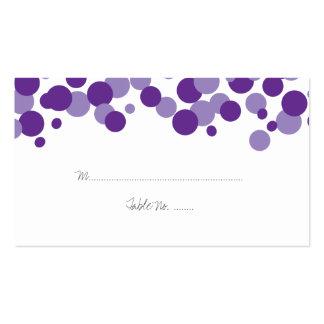 Tarjetas púrpuras del lugar del boda del modelo de tarjetas de visita