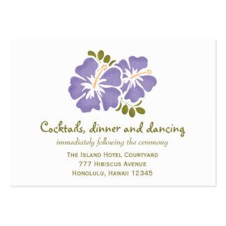 Tarjetas púrpuras del recinto de la recepción del  tarjetas de negocios