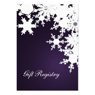tarjetas púrpuras del registro de regalos de los c