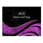 tarjetas púrpuras elegantes del flourishbusiness postales