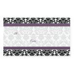 Tarjetas púrpuras, negras, blancas del lugar del b tarjeta de visita