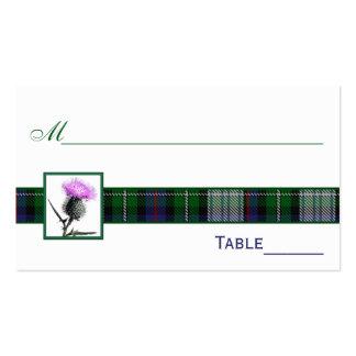 Tarjetas púrpuras, verdes, blancas del lugar del c tarjetas de visita