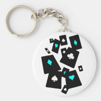 tarjetas que caen invertidas llavero redondo tipo pin