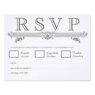 Tarjetas que se casan elegantes negras y blancas d anuncio personalizado