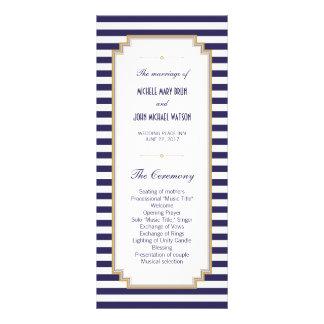 Tarjetas rayadas blancas azules del estante del lonas personalizadas
